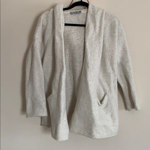 Vince small sweater cardigan long sleeve hooded